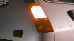 Vintage Renault 5 LeCar - rear fender body blinker Stock Footage
