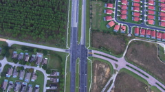 Aerial of Highway-Color Corrected Stock Footage