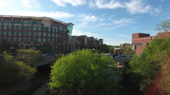 Rising Aerial Shot Downtown Greenville Stock Footage