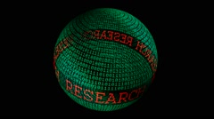 Research spinning globe Stock Footage