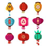 Chineese Lanters Decoration Collection - stock illustration
