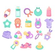 Stock Illustration of Nursery Objects Collection