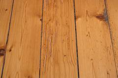 ancient wooden parquet floor - stock photo