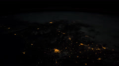 Over the Central United States view of Earth seen from space or the ISS Stock Footage