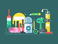 Tools for repair - stock illustration
