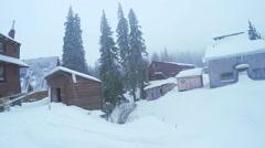 Ski resort in mountains Stock Footage