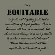 Aristotle Quotes. The equitable is just - stock illustration