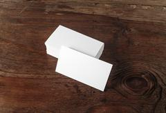 Photo of blank business cards Stock Photos