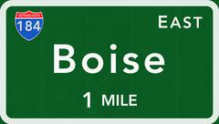 Boise USA Interstate Highway Sign Piirros