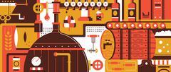 Stock Illustration of Brewery design flat