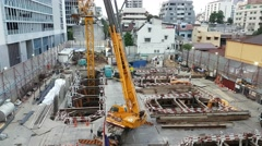 Construction area in bangkok - stock footage