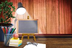 Composite image of school supplies Stock Illustration