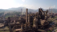 Aerial video of ironworks plant. Stock Footage