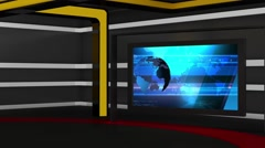 News TV Studio Set 161 - Virtual Green Screen Background Loop - stock footage