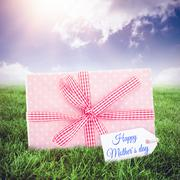 Composite image of mothers day greeting - stock illustration