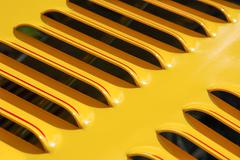 yellow engine grille - stock photo
