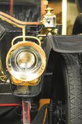 Vintage car headlamp Stock Photos