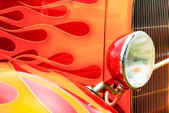 hotrod flames - stock photo