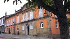 Historic center o Arcos de Valdevez. North of Portugal. Stock Footage