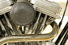 motorcycle engine - stock photo