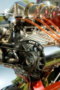 hot-rod engine - stock photo