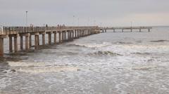 Galveston Island Fishing Pier Arkistovideo