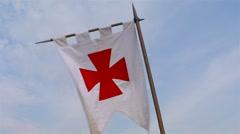 Templar banner Stock Footage