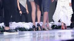 Sofia Fashion Week. Going backstage. Stock Footage