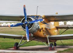 Old vintage airplane - stock photo