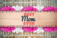 Composite image of best mom ever - stock illustration