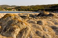 Rocks formation by the sea on peninsula Sithonia Stock Photos
