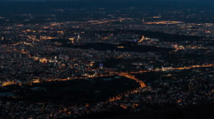 City From Day To Night Time Lapse Arkistovideo