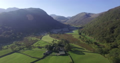England, Cumbria, Lake District National Park, Borrowdale Valley, looking - stock footage