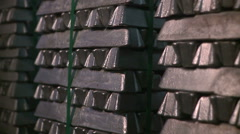 Silver bars Stock Footage