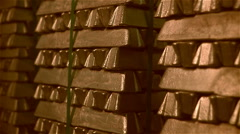 Gold bars Stock Footage