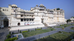 The City Palace in Udaipur, Rajasthan, India Stock Footage