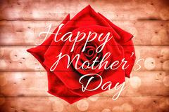 Composite image of happy mothers day - stock illustration
