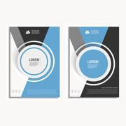 Vector design cover design brochure in A4 size - stock illustration