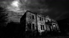 Abandoned Creepy Hotel at Night - stock footage