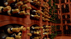 Old wine cellar - stock footage