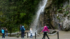 Waterfall in the Republic of Abkhazia North Caucasus Stock Footage
