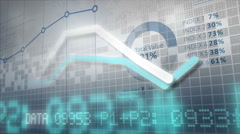 Growing charts. Financial figures and diagrams showing increasing profits. - stock footage