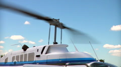 Helicopter rotor Stock Footage