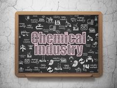 Industry concept: Chemical Industry on School board background Stock Illustration