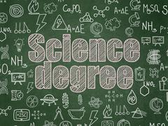 Science concept: Science Degree on School board background Stock Illustration
