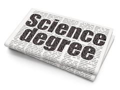 Science concept: Science Degree on Newspaper background - stock illustration