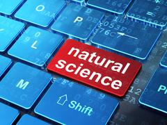 Science concept: Natural Science on computer keyboard background - stock illustration