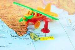 Sri Lanka Ceylon  map airplane Stock Photos