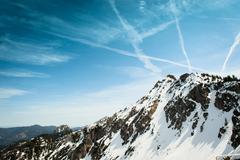 German Alps overlooking rural landscape Stock Photos
