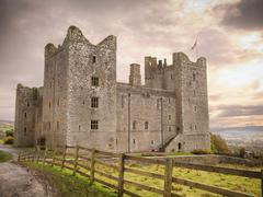Exterior of Bolton Castle, a 14th century Grade I listed building and a Stock Photos